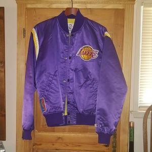 Vintage 80s Lakers STARTER Satin Jacket NBA